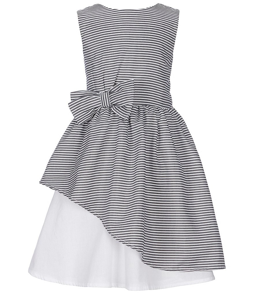 Us Angels Little Girls 2T-6X Striped Asymmetrical-Hem A-Line Dress