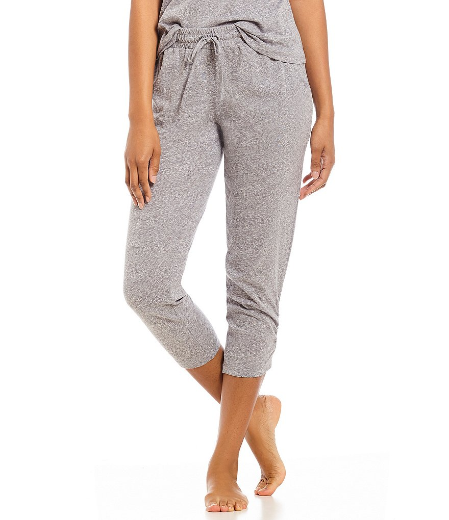 VAN WINKLE & CO. Solid Jersey Cropped Sleep Pants