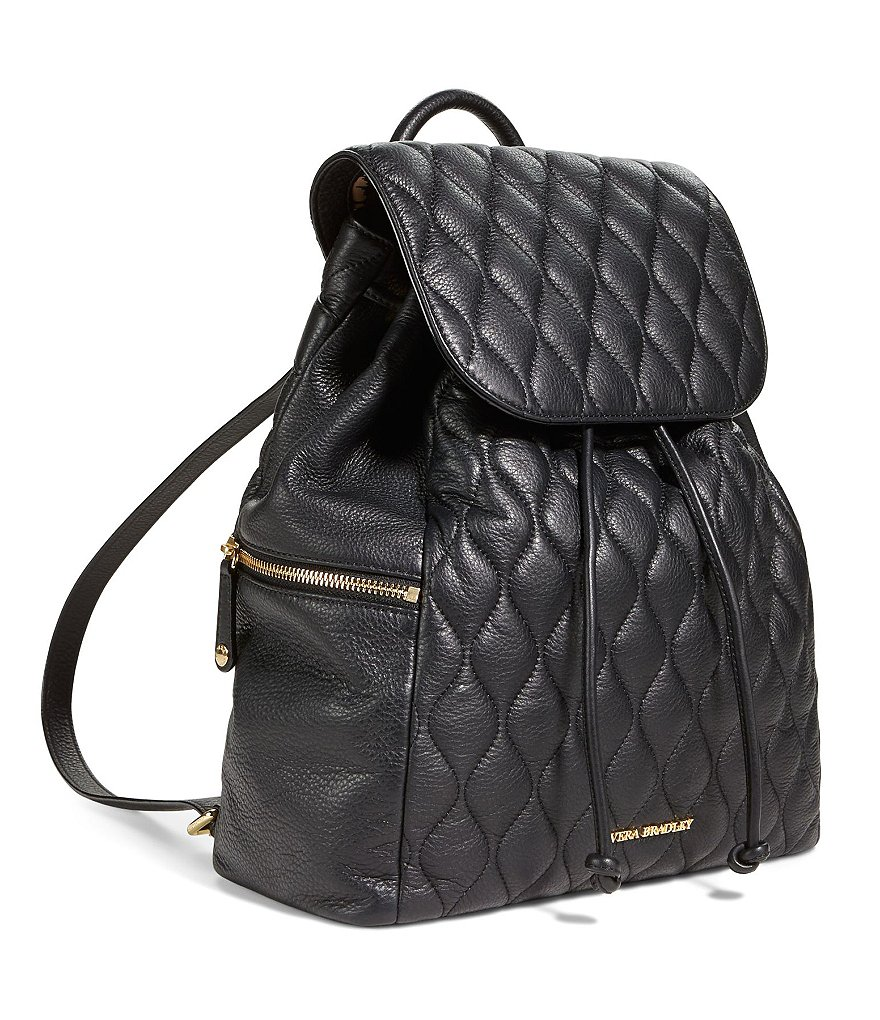 Vera Bradley Amy Quilted Leather Backpack