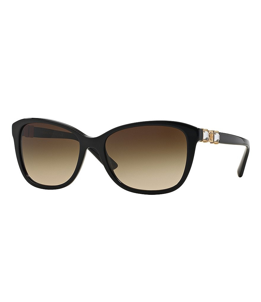 Versace Crystal Studs Square Sunglasses