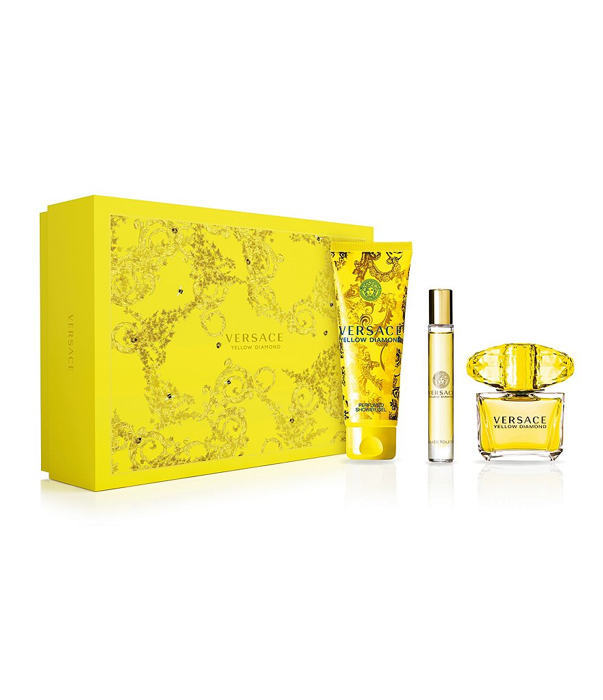 Versace Yellow Diamond Gift Set With Shower Gel