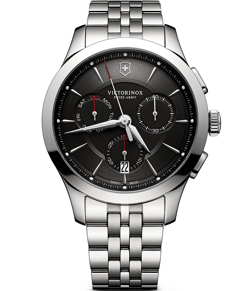 Victorinox Swiss Army Alliance Chronograph Stainless Steel Bracelet Watch