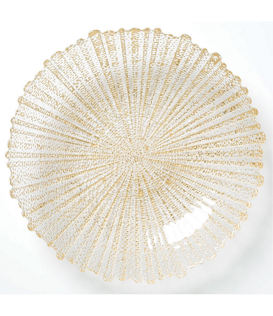 Vietri Rufolo Glass Gold Large Serving Bowl