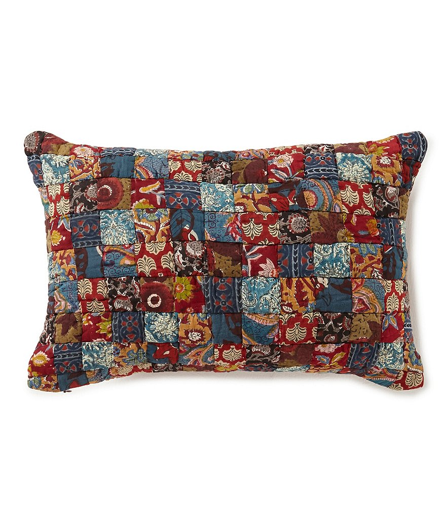 Villa by Noble Excellence Silvio Patchwork Breakfast Pillow   Dillards