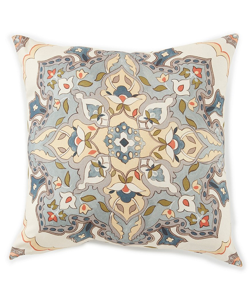 Villa by Noble Excellence Talia Medallion Square Pillow