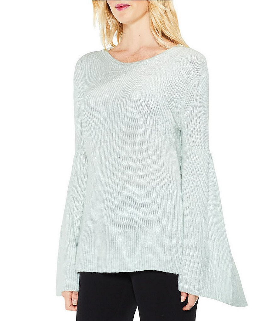 Vince Camuto All Over Rib Bell Sleeve Sweater