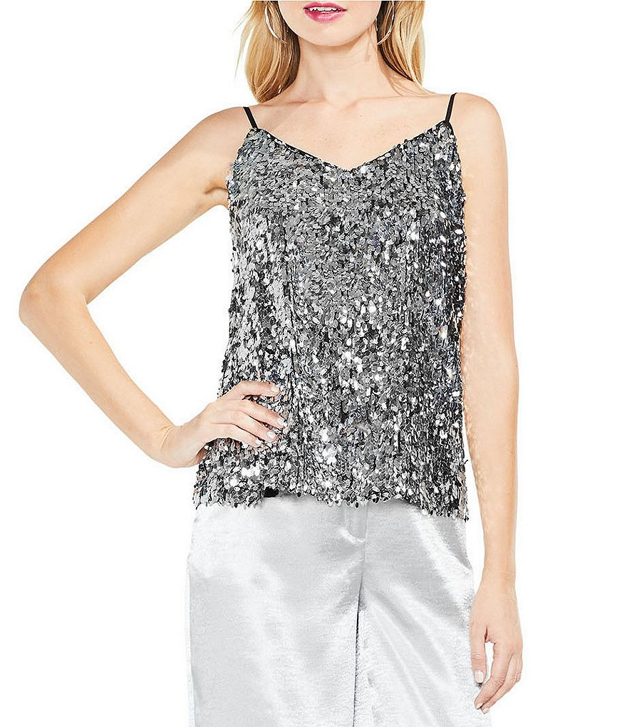Vince Camuto All-Over Sequin Cami