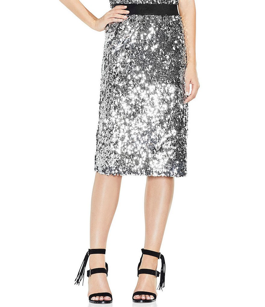 Vince Camuto All-Over Sequin Pencil Skirt