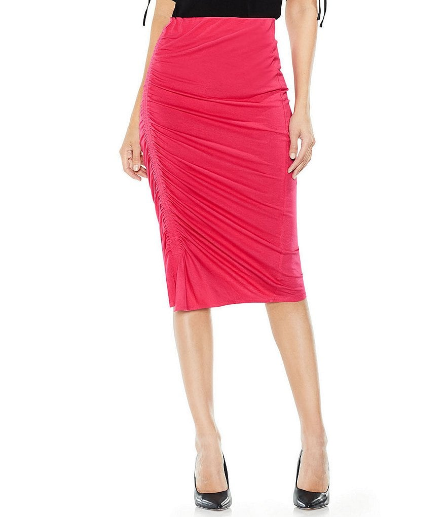 Vince Camuto Assymetrical Side Ruched Skirt
