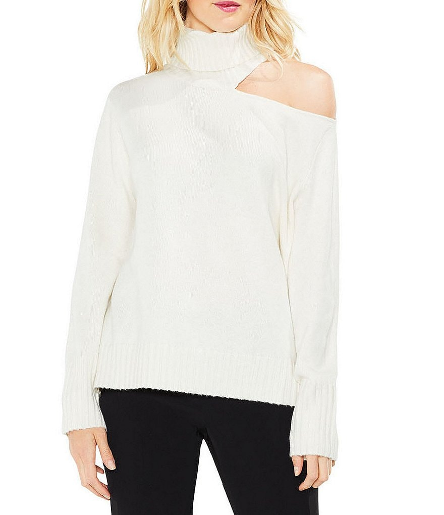 Vince Camuto Asymmmetrical Cold-Shoulder Sweater
