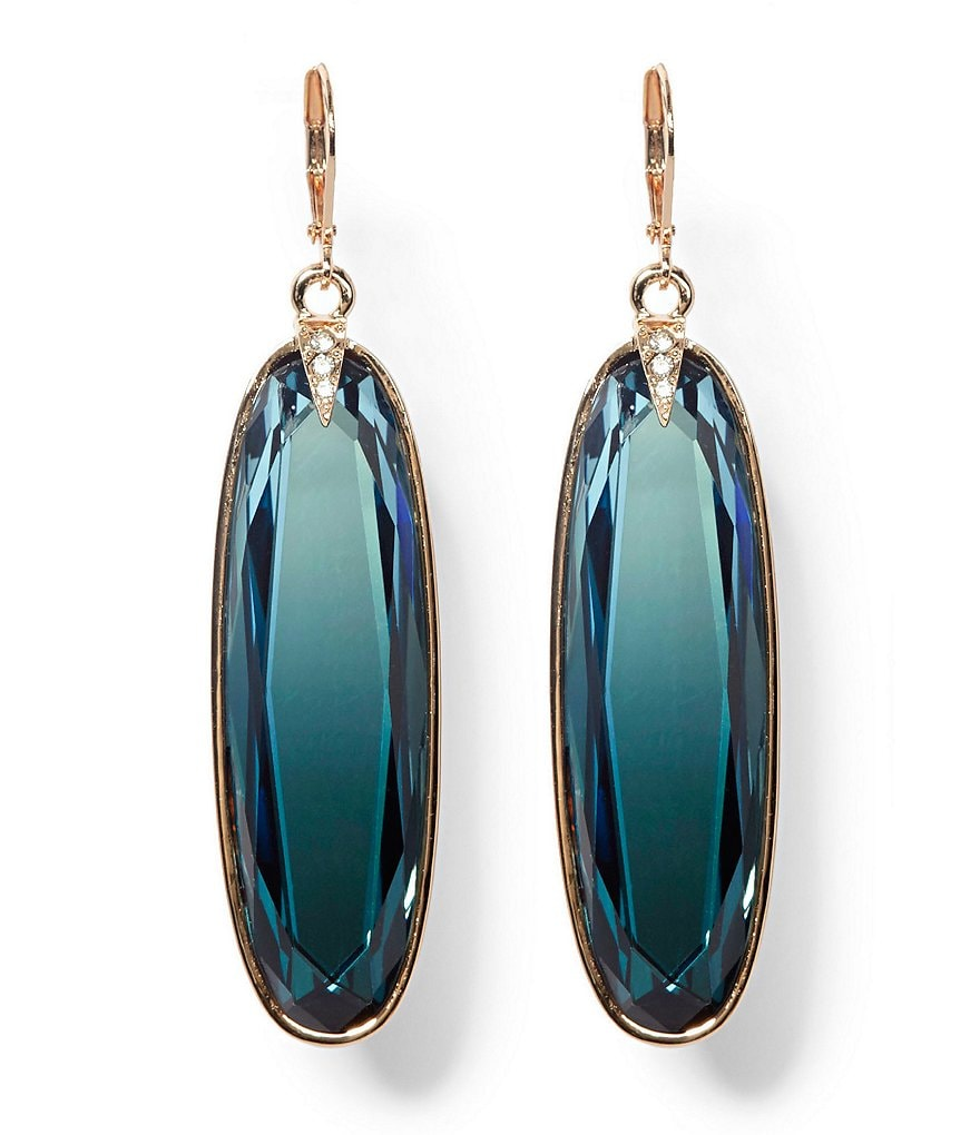 Vince Camuto Blue Ombre Statement Stone Drop Earrings