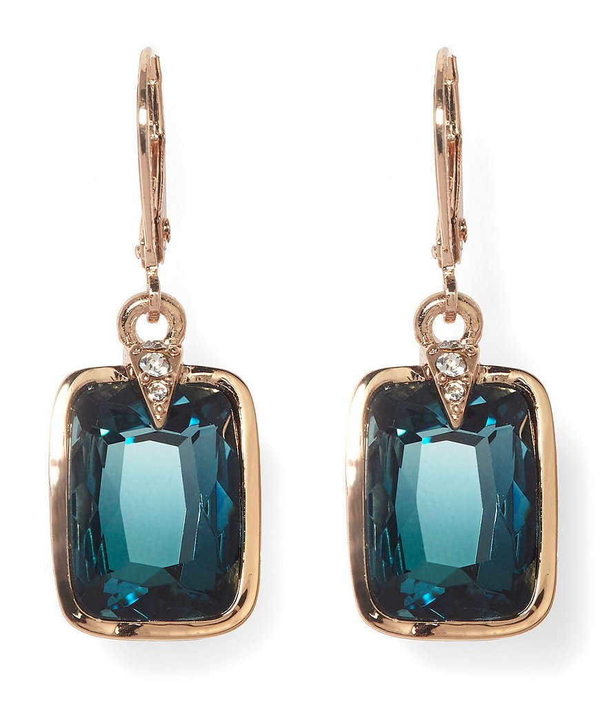 Vince Camuto Blue Ombre Stone Drop Statement Earrings