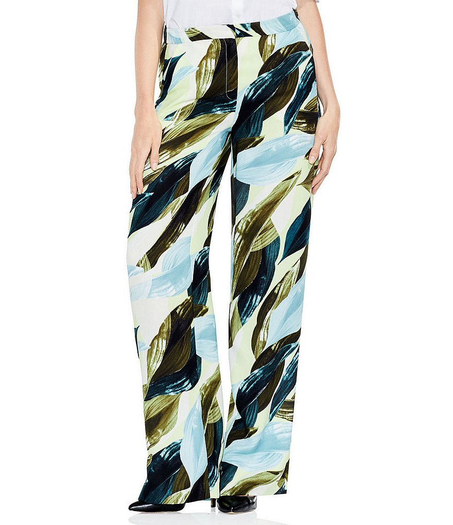 Vince Camuto Breezy Leaves Wide Leg Pant