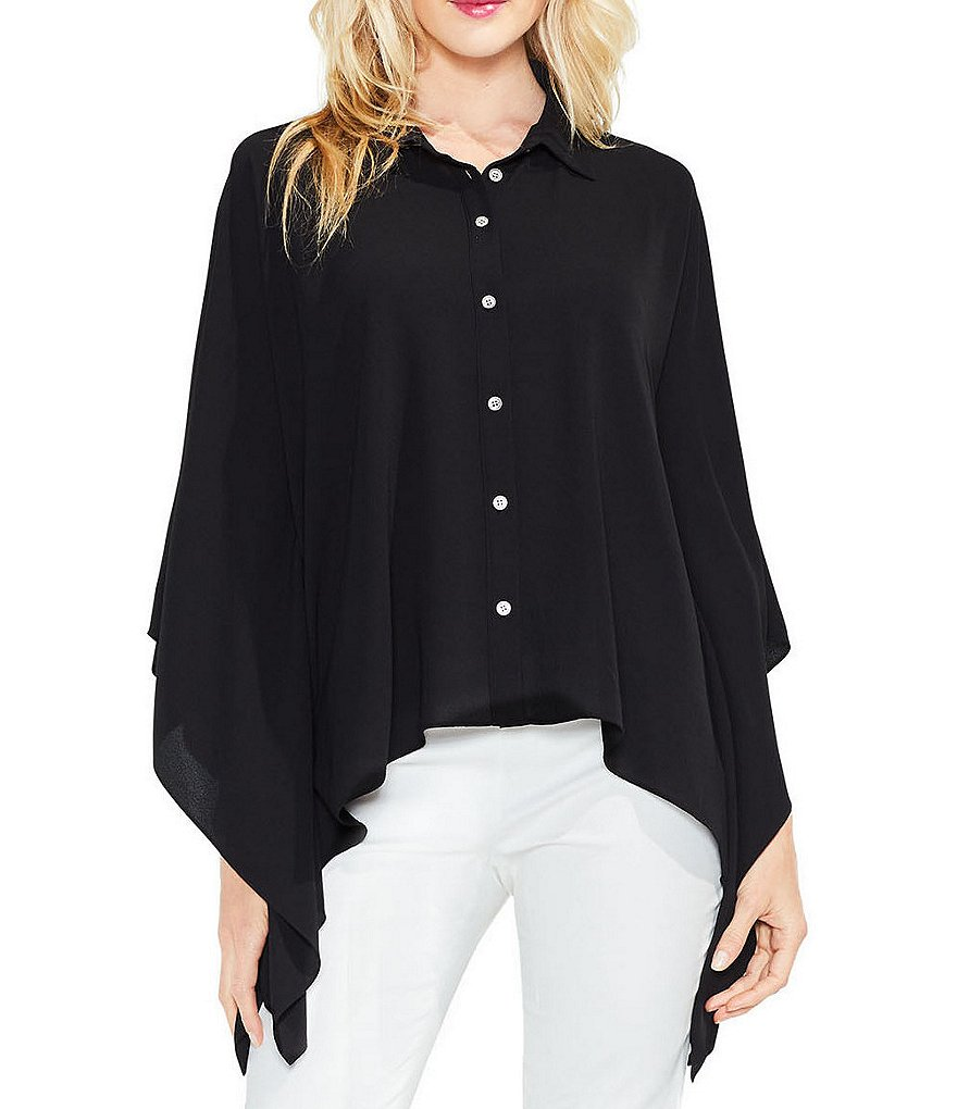 Vince Camuto Button Down Collared Blouse