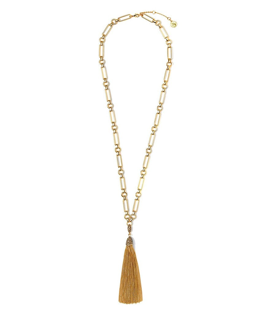 Vince Camuto Chain-Tasseled Necklace