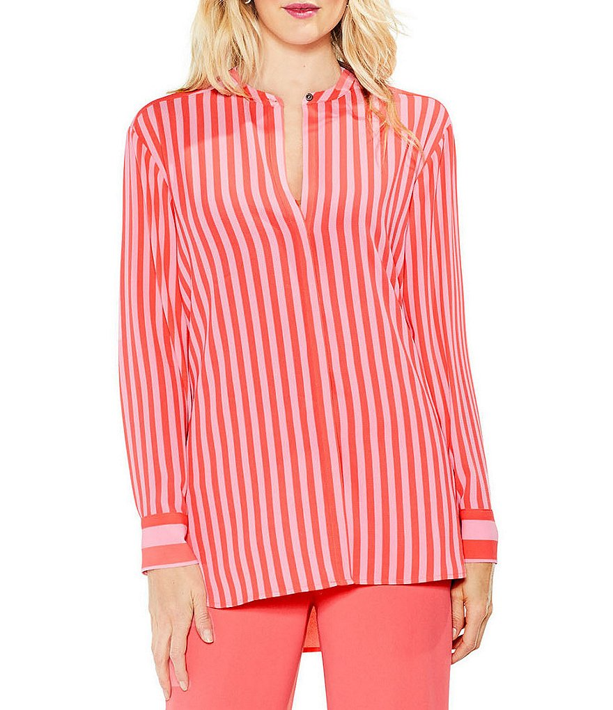 Vince Camuto Debut Mix Stripe Blouse
