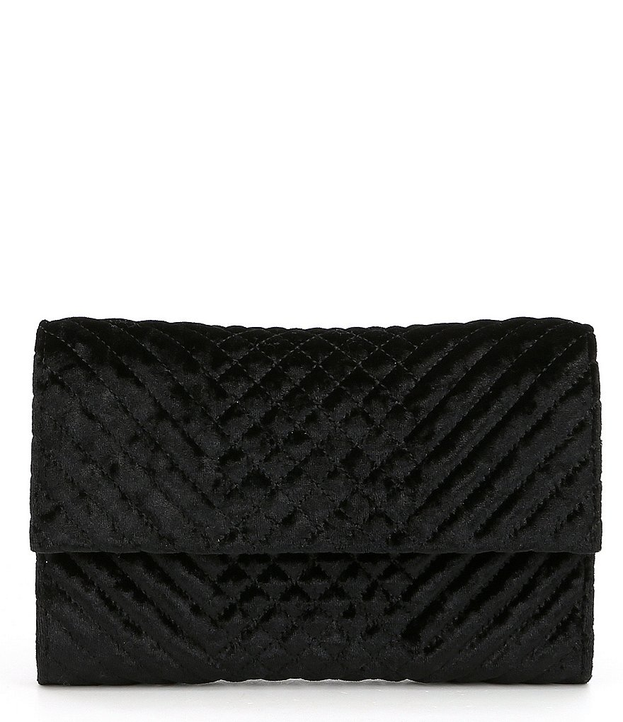 Vince Camuto Fayne Quilted Crushed Velvet Clutch