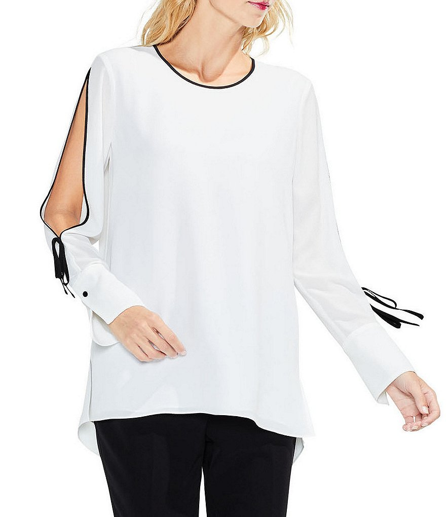 Vince Camuto Flutter Cuff Split Sleeve Top