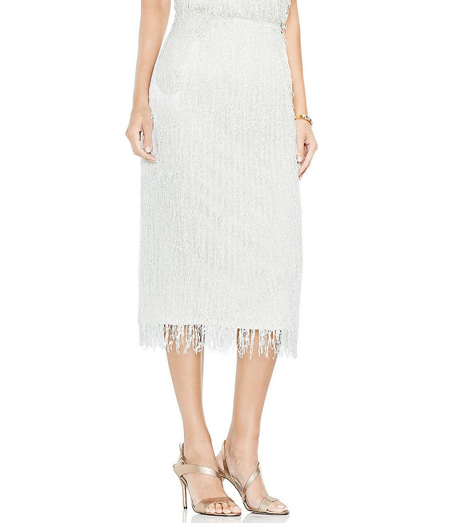 Vince Camuto Fringe Pencil Skirt