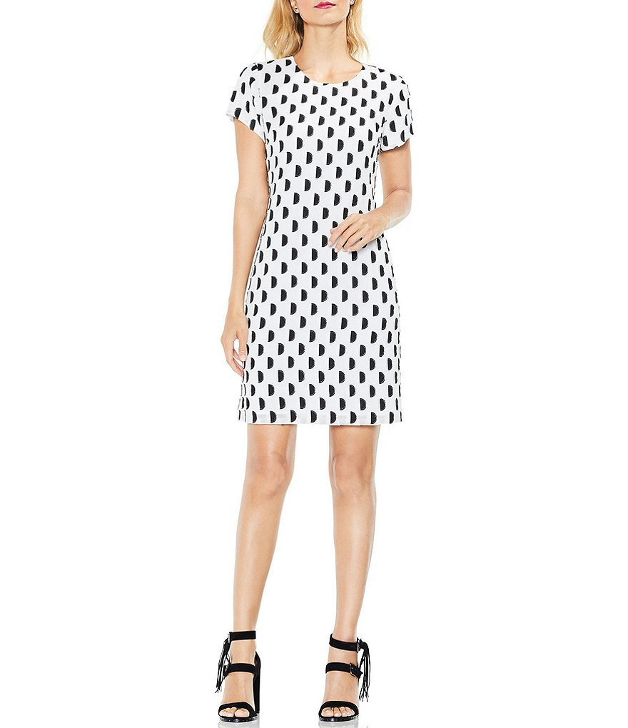 Vince Camuto Graphic Dot Dress