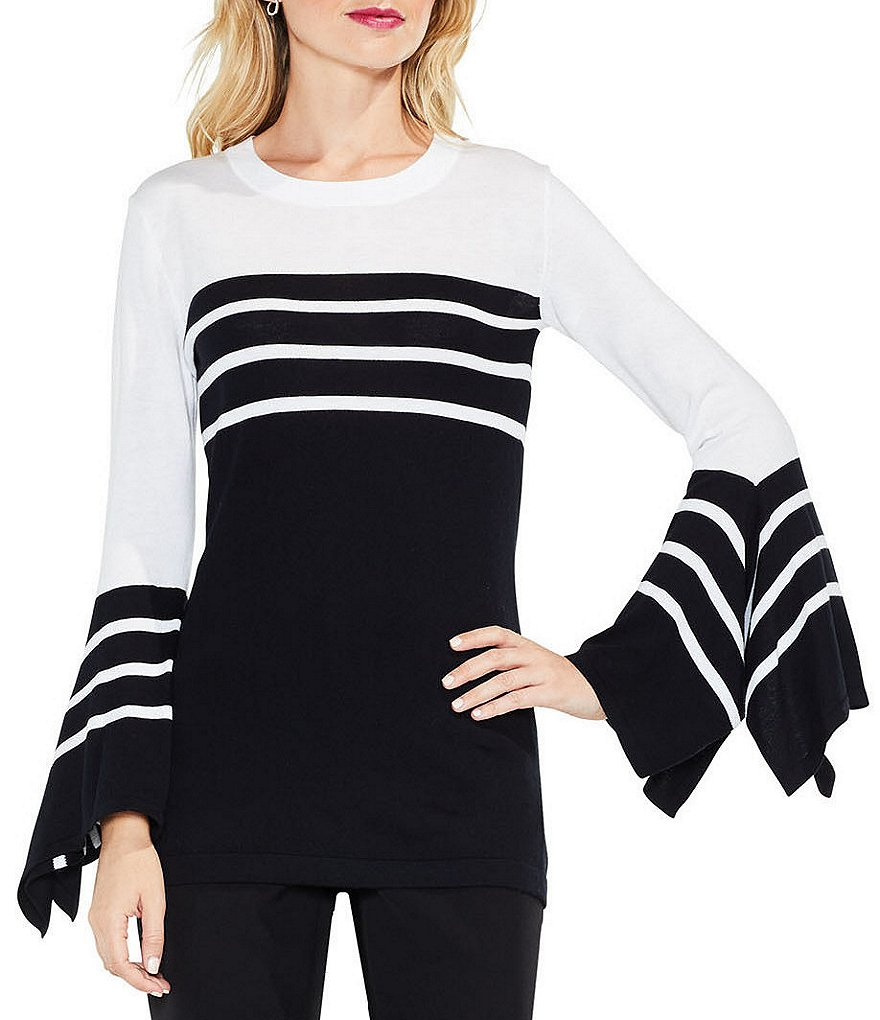Vince Camuto Handkerchief Sleeve Striped Top