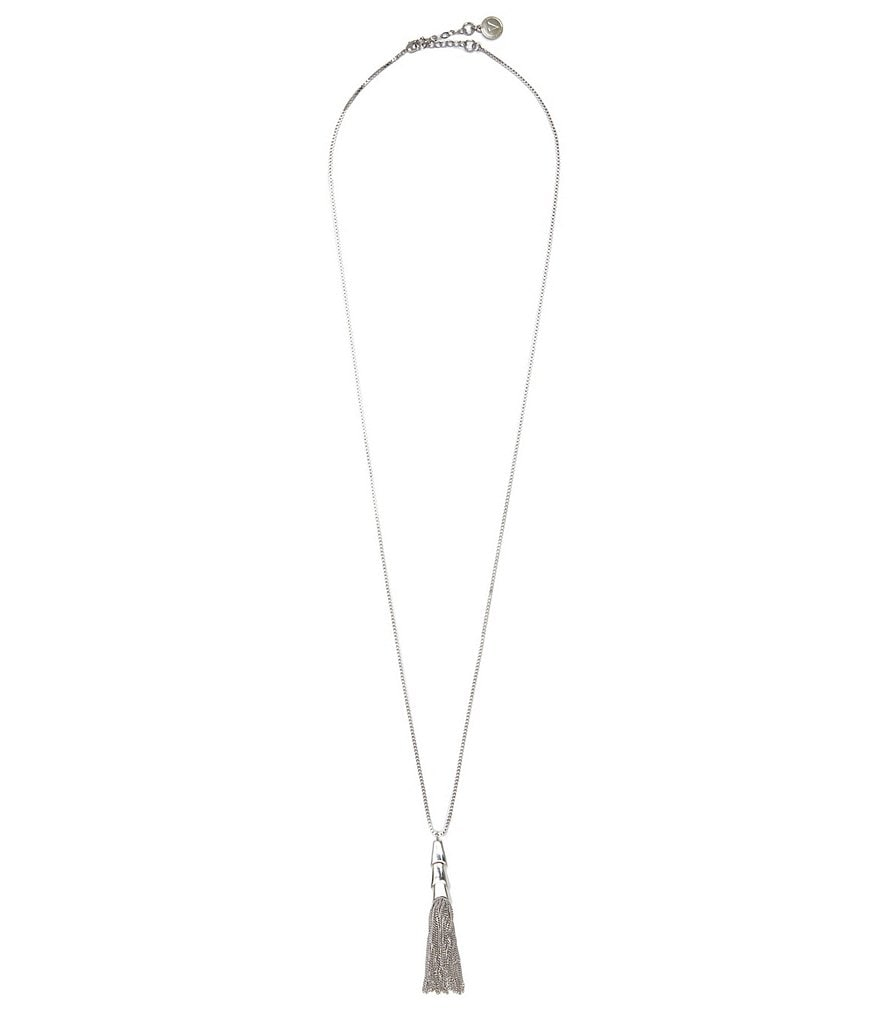 Vince Camuto Long Chain-Tasseled Necklace