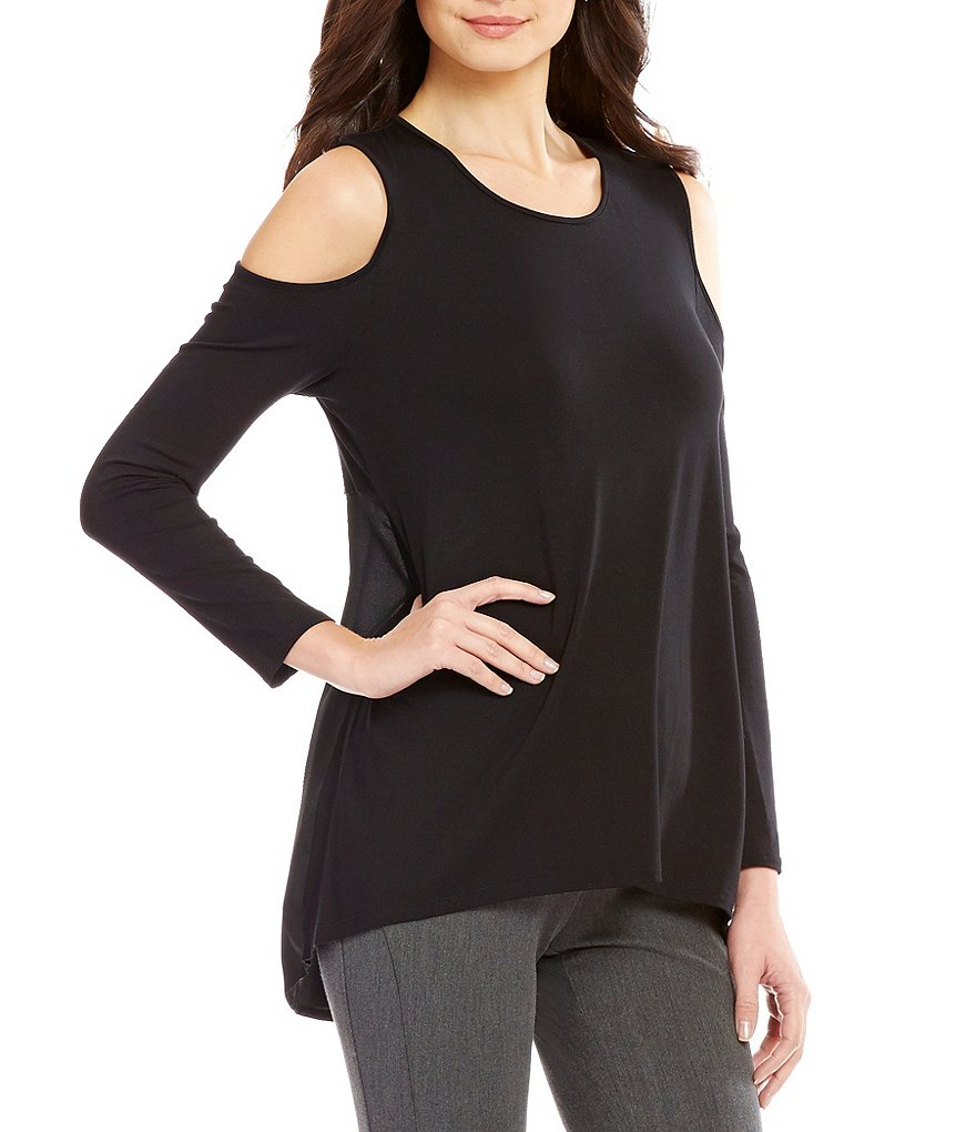 Vince Camuto Long Sleeve Cold-Shoulder Top