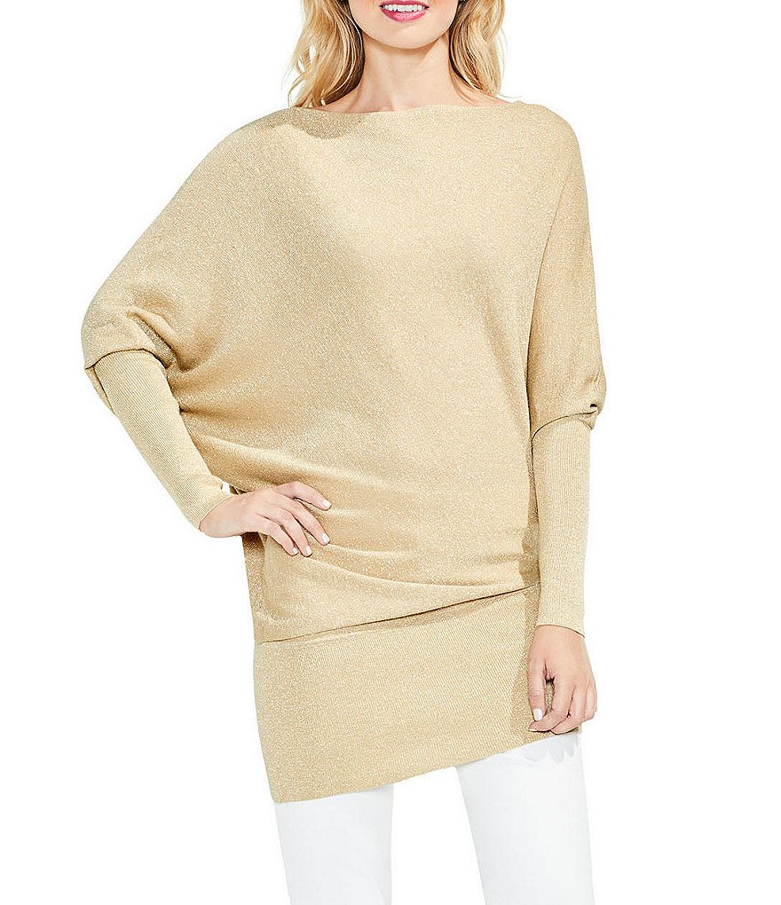 Vince Camuto Long Sleeve Ribbed Drape Sweater