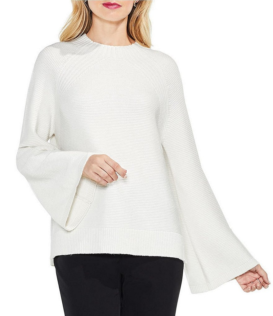 Vince Camuto Mock Neck Bell Raglan Sleeve Sweater