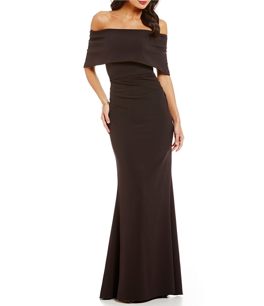 Vince Camuto Off The Shoulder Gown | Dillards