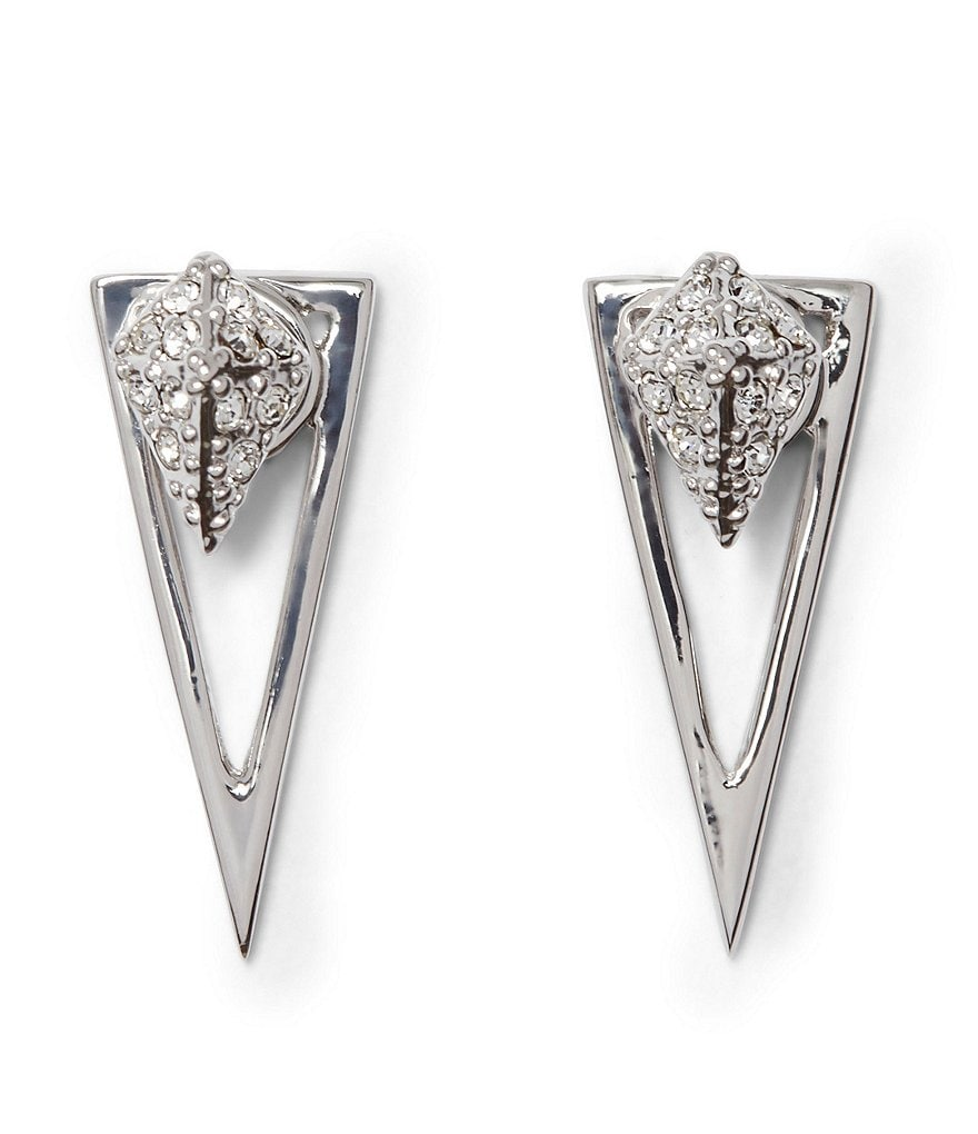 Vince Camuto Pavé Crystal Pyramid Front/Back Earrings