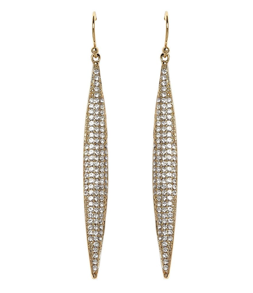 Vince Camuto Pavé Spear Linear Drop Earrings