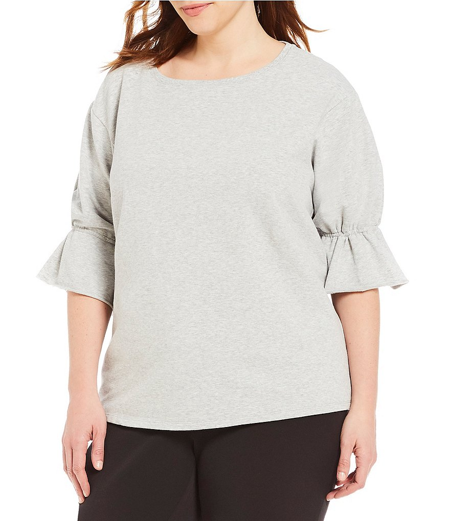 Vince Camuto Plus Cinched Cuff Top