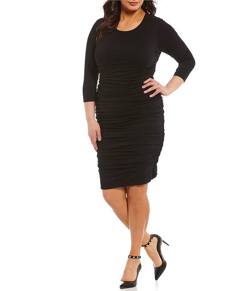 Vince Camuto Plus Ruched Body Dress