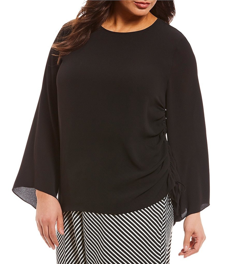 Vince Camuto Plus Side Drawstring Blouse