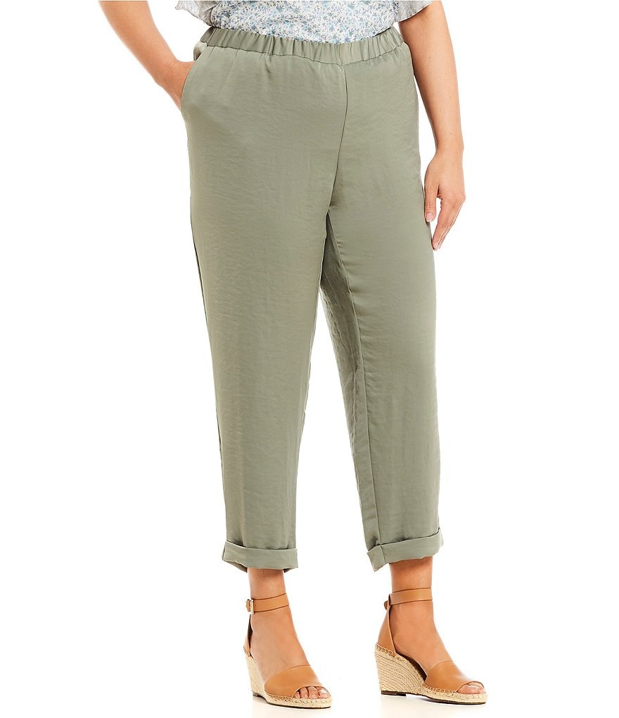Vince Camuto Plus Size Slim Leg Pull On Pant