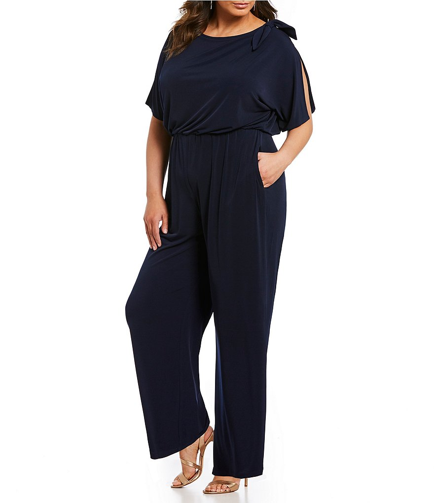 Vince Camuto Plus Split Sleeve Jumpsuit