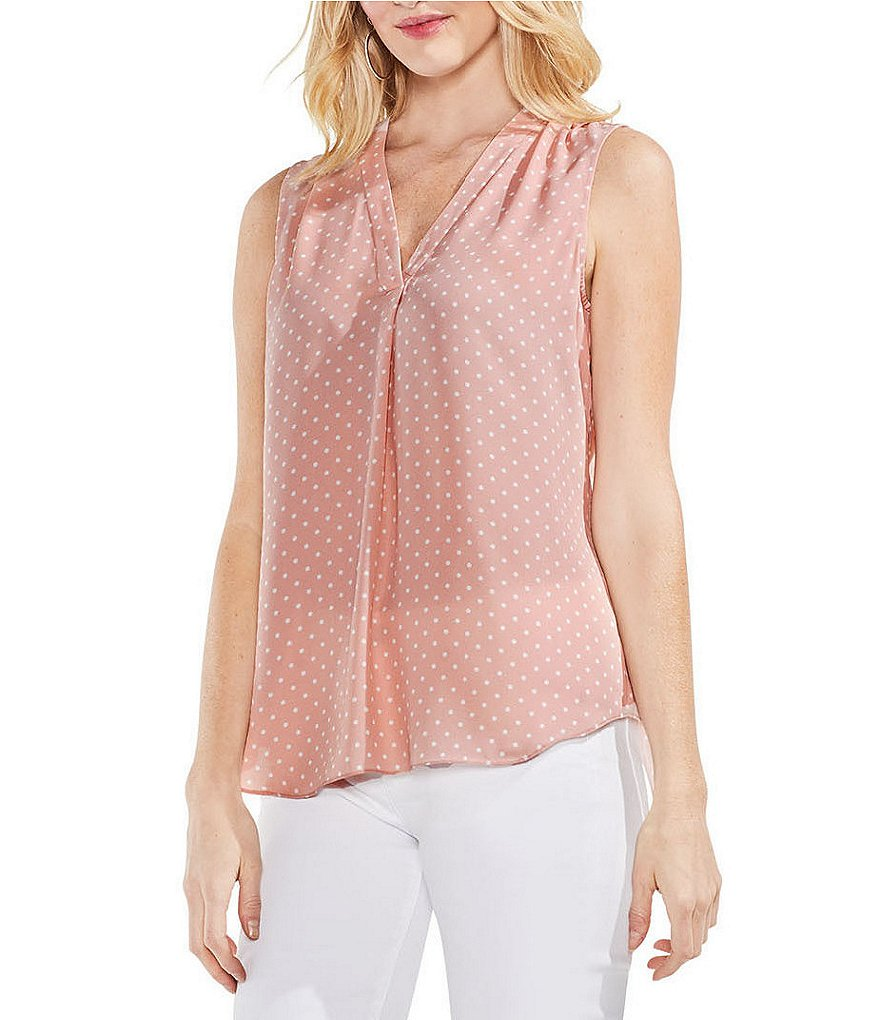 Vince Camuto Poetic Polka Dot Sleeveless Top