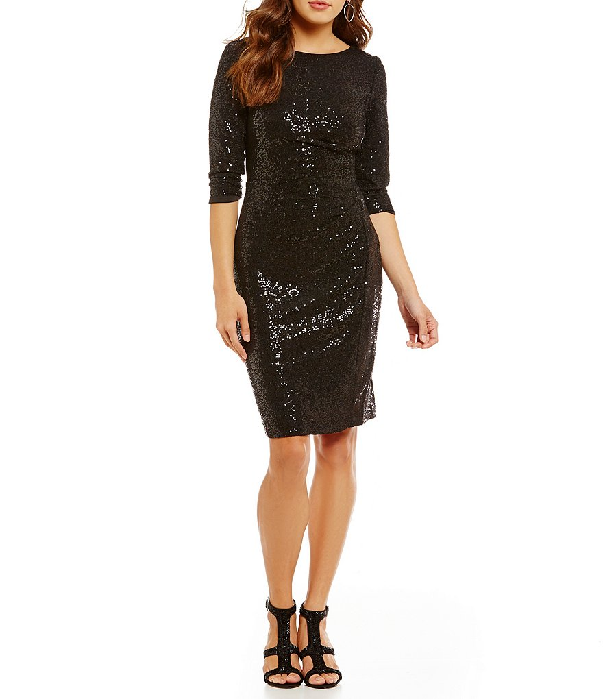 Vince Camuto Sequin Sheath Dress