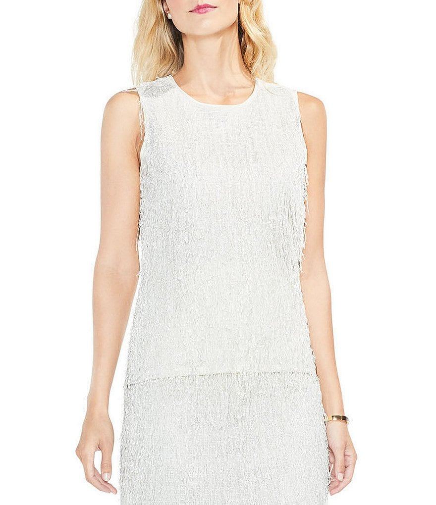Vince Camuto Sleeveless Fringe Top