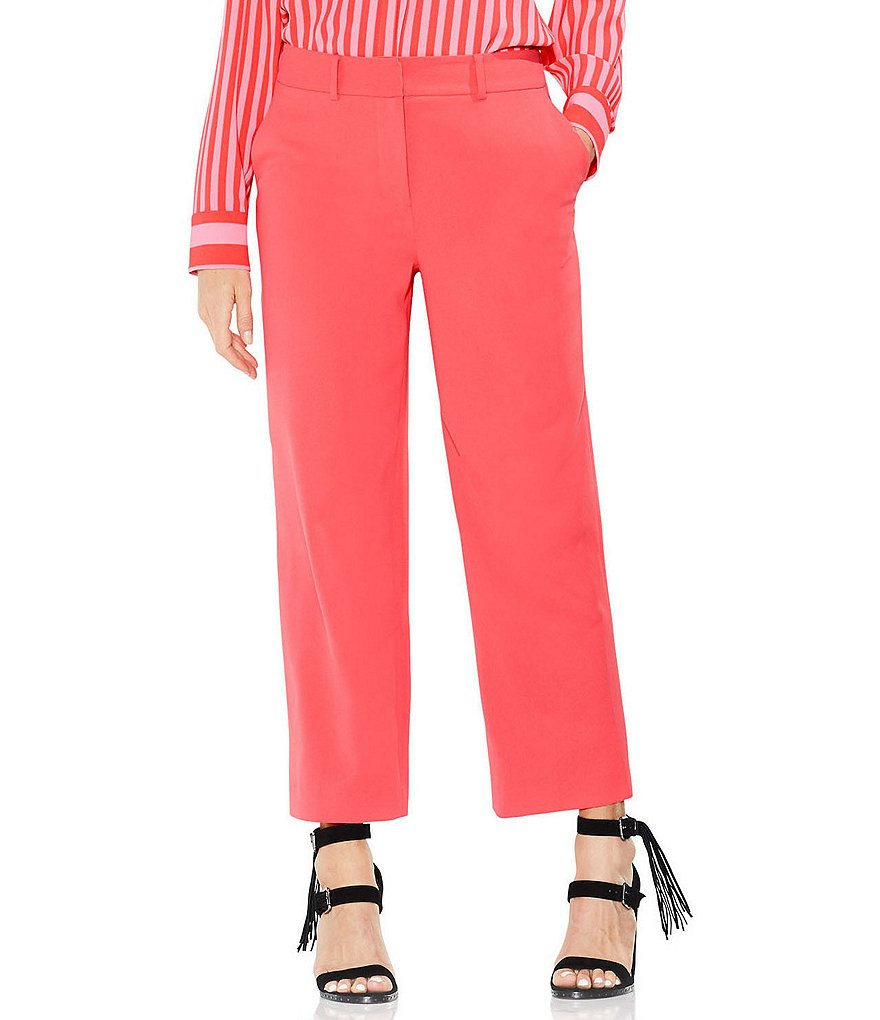 Vince Camuto Texture Base Straight Let Crop Pant