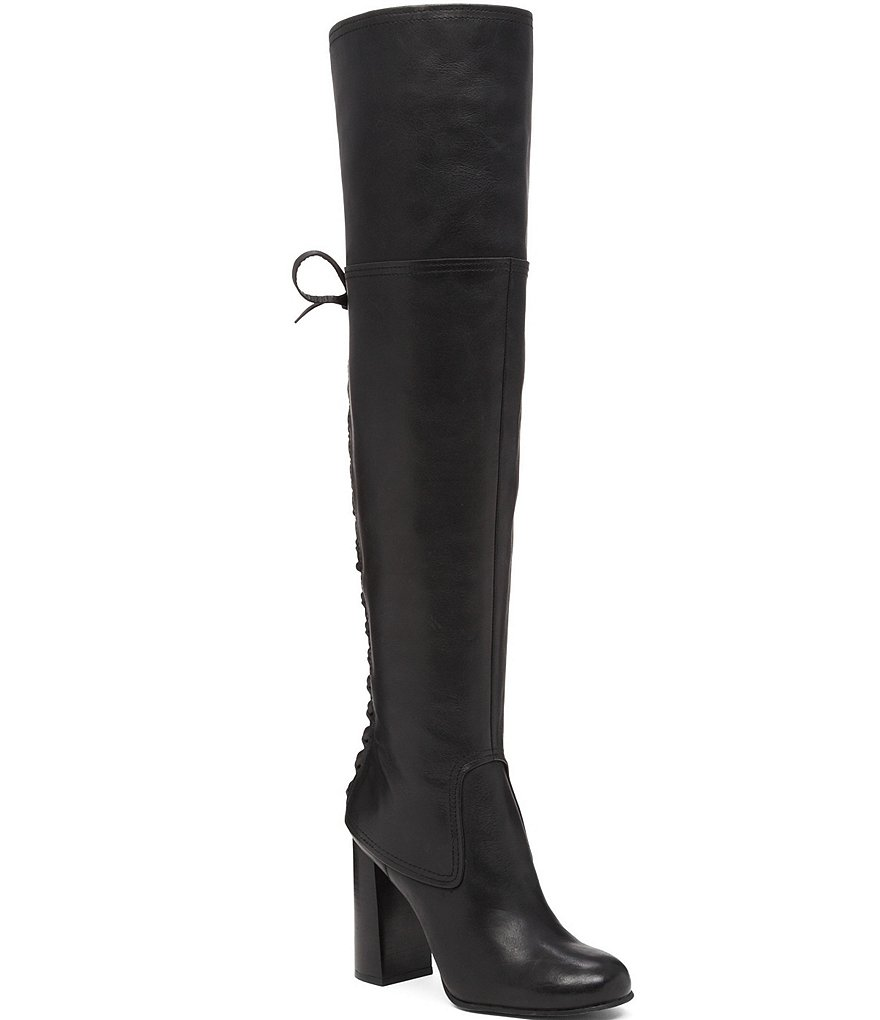 Vince Camuto Tolla Lace Up Over The Knee Boots