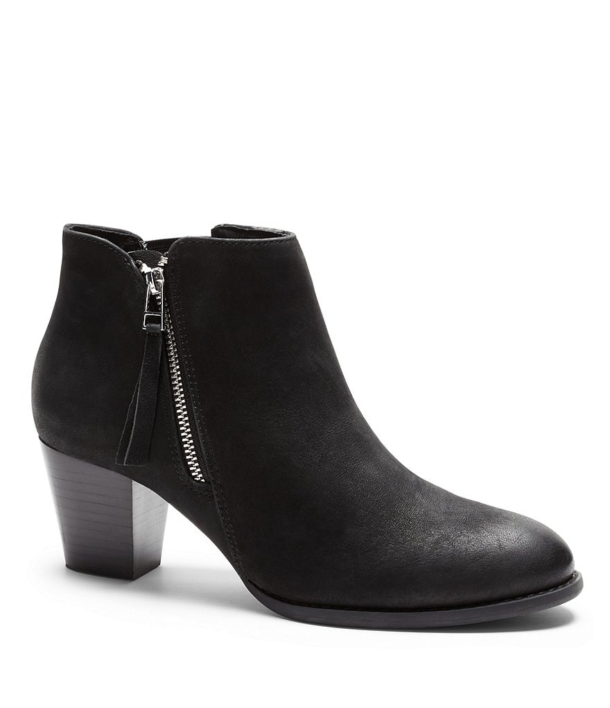 Vionic® with Orthaheel® Technology Upright Sterling Leather Side Zip Booties
