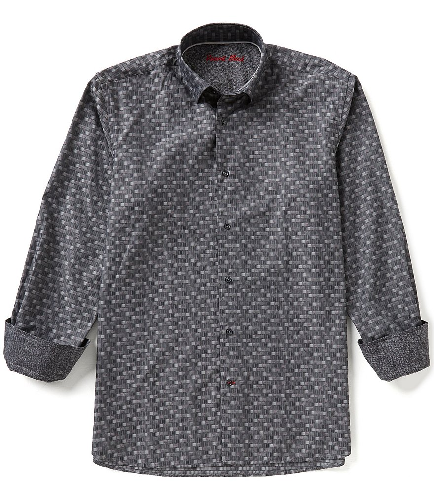 Visconti Big & Tall Square Long-Sleeve Woven Shirt