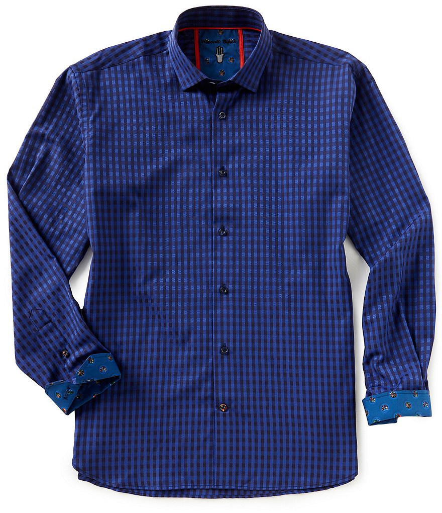 Visconti Check Jacquard Long-Sleeve Woven Shirt