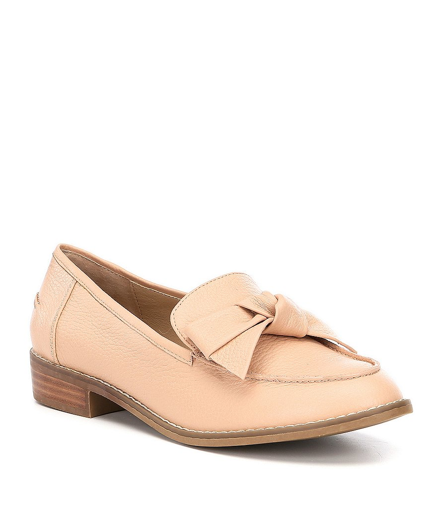 Volatile Beaux Bow Detail Block Heel Loafers