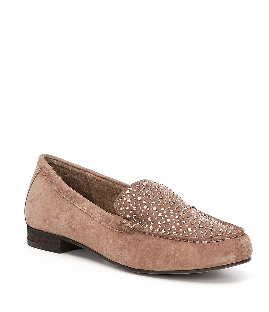 Volatile Comfee Bling Suede Rhinestone Loafers