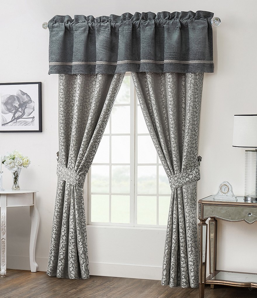 Waterford Ansonia Chenille & Scroll Jacquard Window Treatments