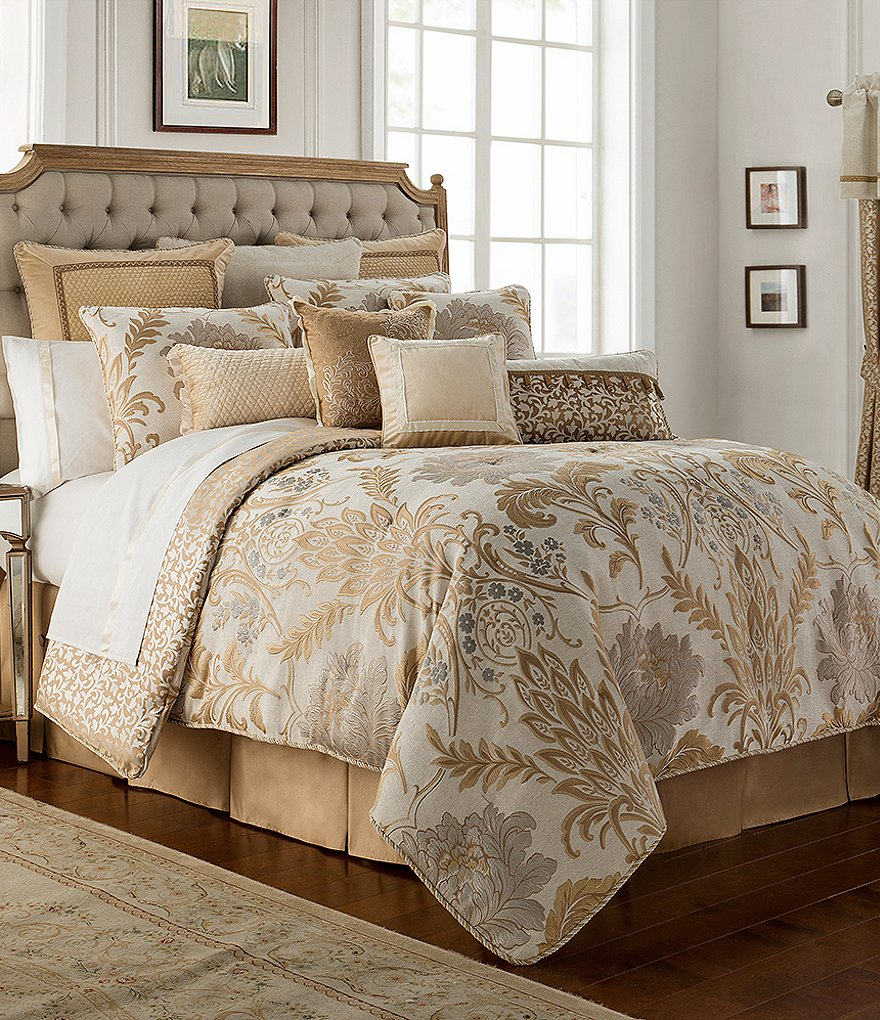 overstock set bedding sets ivory bath product today comforter shipping free signature sophia park jacquard madison