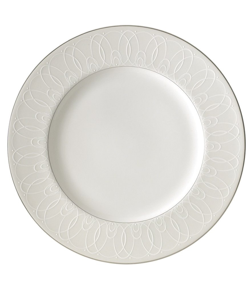 Waterford Ballet Icing Pearl Platinum Bone China Dinner Plate